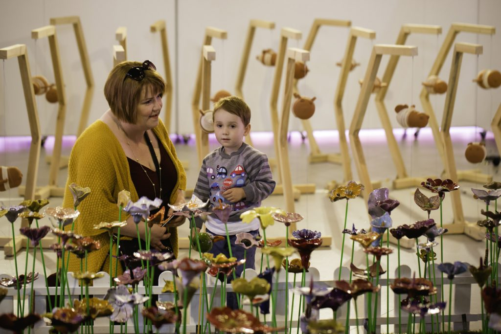 Enjoying the Ceramic Garden - image by Lee Allen
