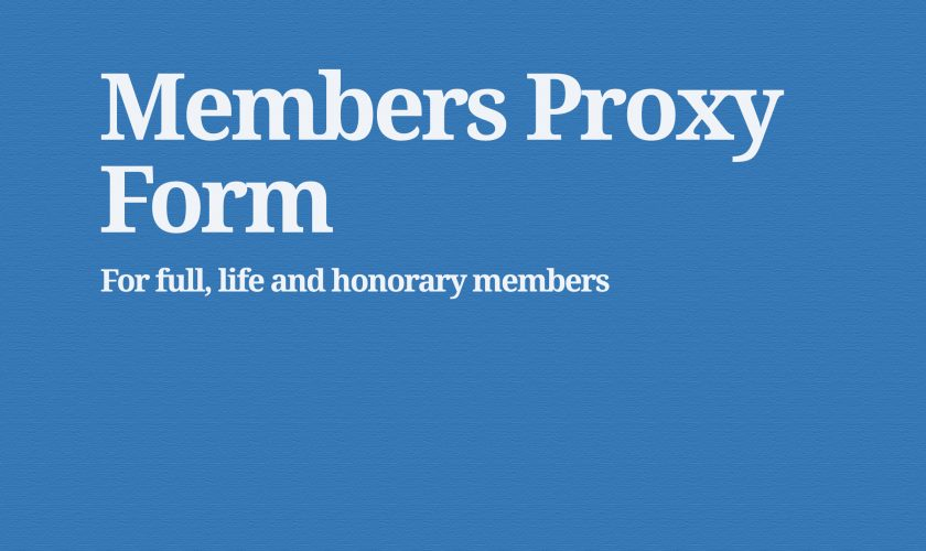 members proxy form
