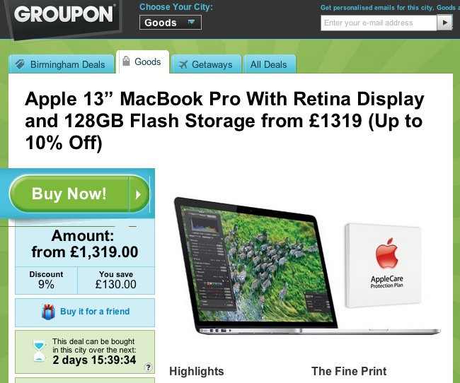apple and groupon - who would have thought that.
